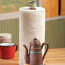 Coffeepot Coffee Themed Kitchen Paper Towel Holder Kitchen Decor