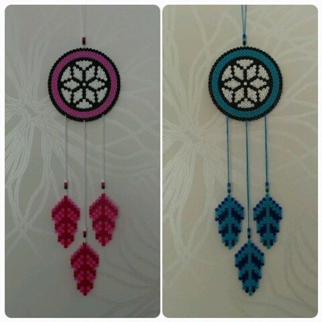 Dreamcatchers hama beads by pysselraven