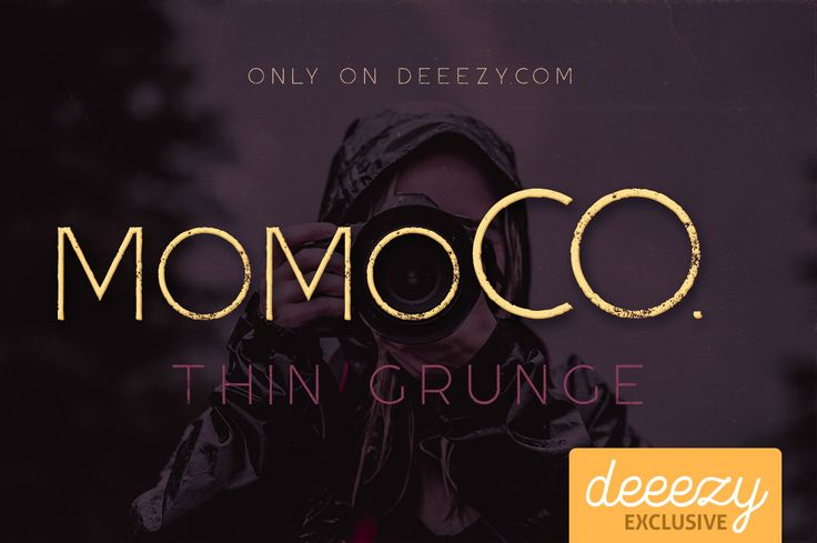 Momoco Thin Grunge Font | Deeezy - Freebies with Extended License