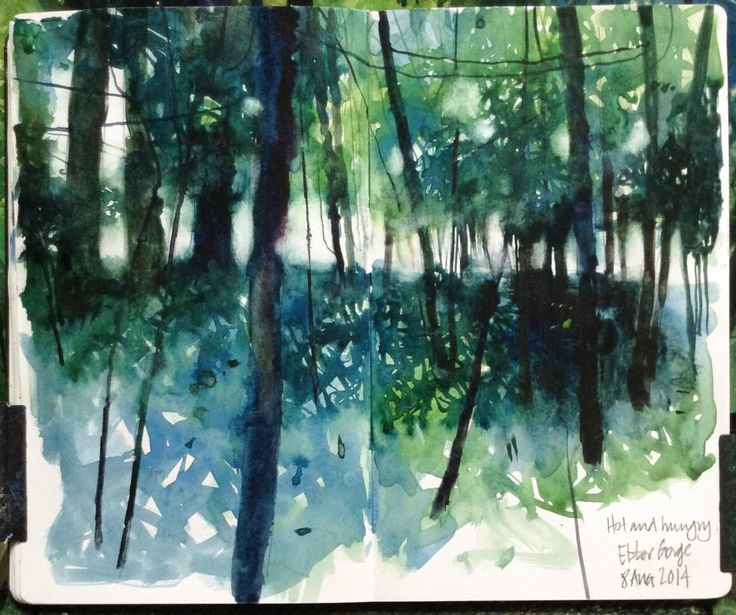 @davidparfittRI Day 8 #DrawingAugust on a walk in the woods today - 'hot and hungry'