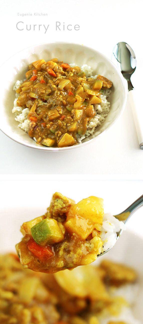 Easy Korean curry rice - Eugenie Kitchen
