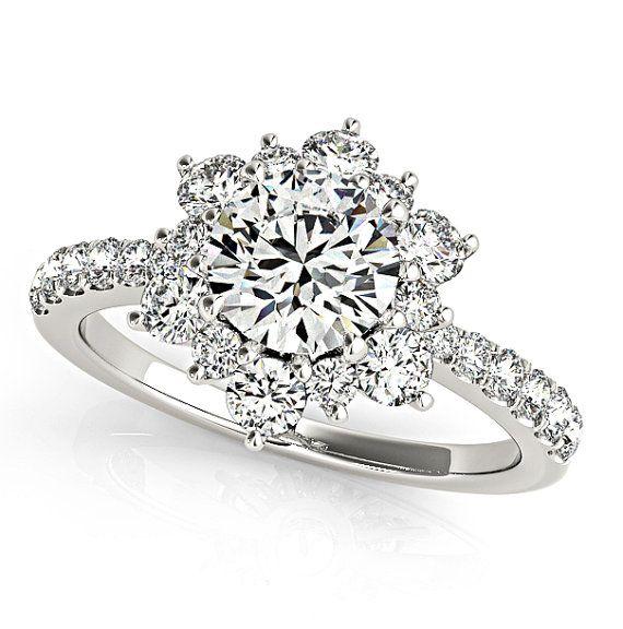 lotus flower engagement ring unique diamond engagement ring flower diamond ring diamond wedding sets diamond engagement ring - Flower Wedding Rings