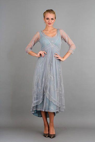 Nataya 40163 Downton Abbey Tea Party Gown In Sunrise Garden Wedding Dresses Garden Weddings