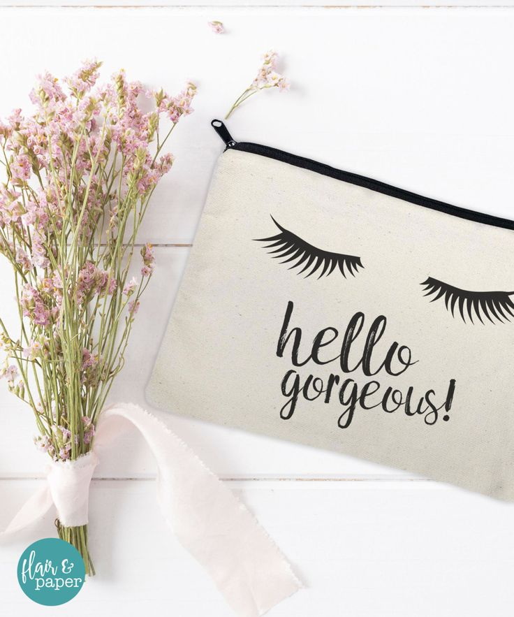 Canvas Makeup Bag - Make Up Pouch - Canvas pouch - Cosmetic pouch - Cosmetic Bag…