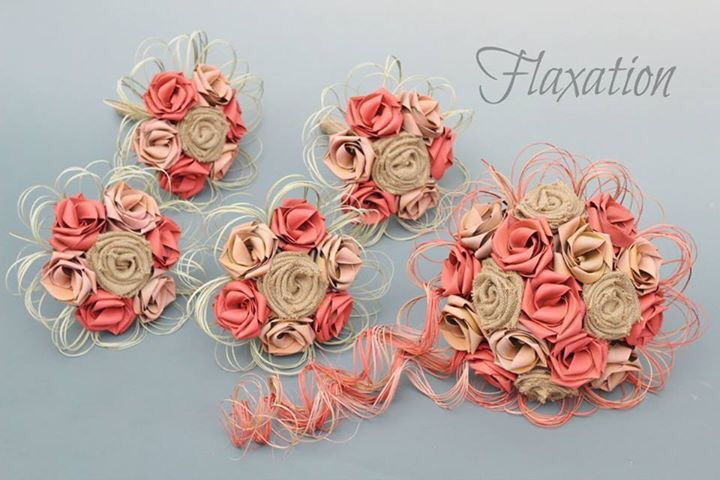 www.flaxation.co.nz Rustic flax bouquets