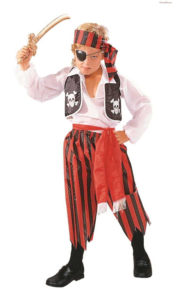 5 Piece Pirate Boy Costume #Ad