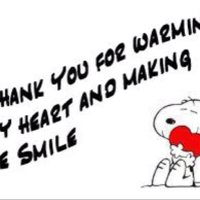 U Make Me Smile Quotes: Thank U For Warming My Heart And Making Me Smile!