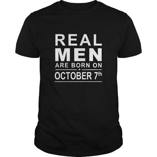 Awesome Tee 1007 October 7 Birthday Born Real Men Shirts Guys tee ladies tee youth Sweat Hoodie Vneck Tank top Tshirts for Girl and Men and Family Shirts & Tees