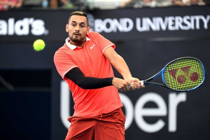 Nick Tsagaris Nick Kyrgios Out Of Brisbane International After Three Sets Defeat To Jeremy Chardy Nicktsagaris Australia Brisban Brisbane Tennis Trend Sport