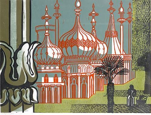 Edward Bawden, Royal Pavilion, Brighton, 1956