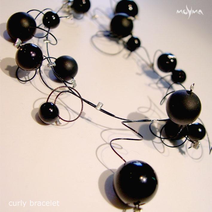 Black Curly Bracelet