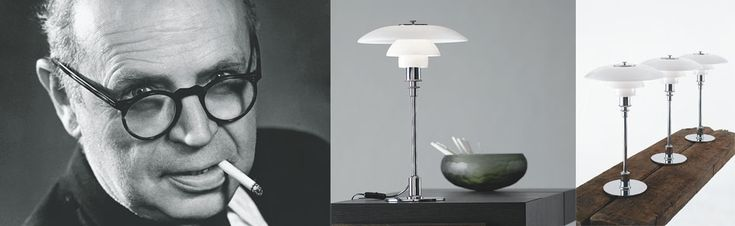 Famous Designer, Poul Henningsen, creator of the PH Lamps