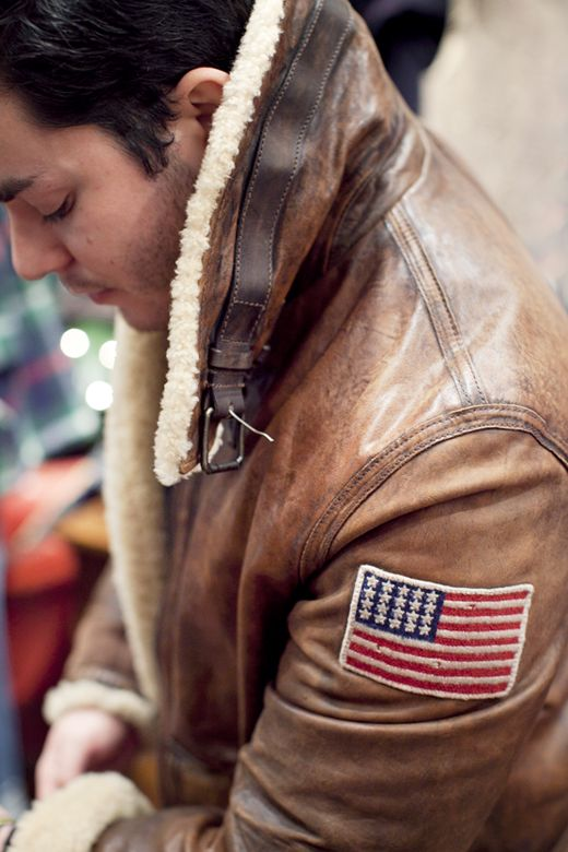 rugged Leather Bomber jacked, RUGBY Ralph Lauren, iconic men's style
