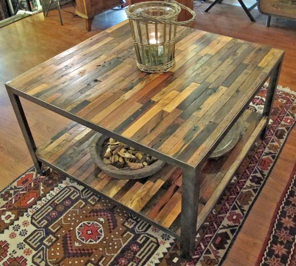 Coffee Table With Bottom Shelf, square Impact Imports of Boise &  Philadelphia specializing in reclaimed - Reclaimed Wood & Piping Furniture: A Collection Of Home Decor