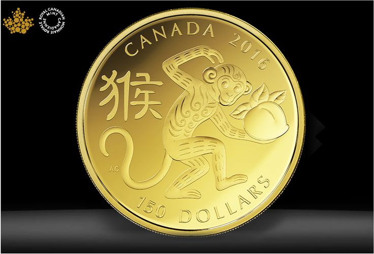 Monkey coin design by Aries Cheung for Royal Canadian Mint