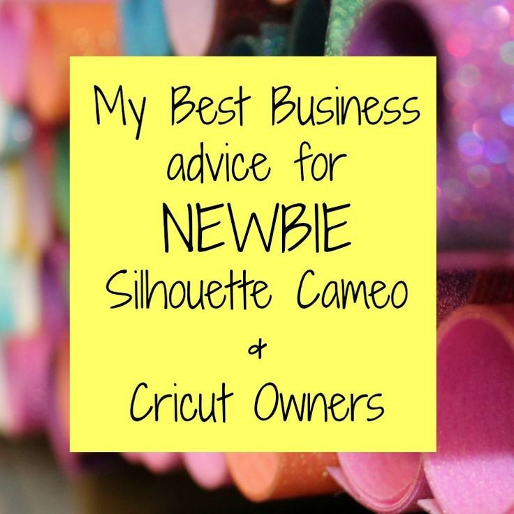 Want to start your own small business with a Silhouette Cameo or Cricut? This article will help you get started.