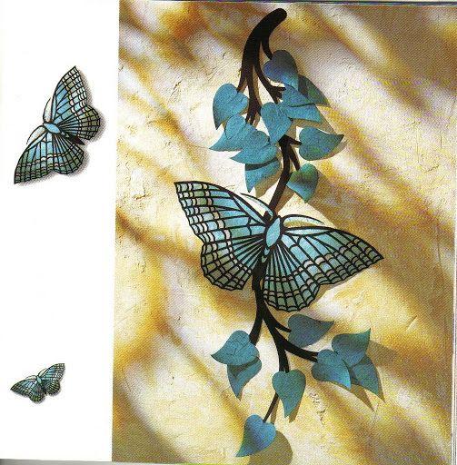 Изящные бумажные бабочки