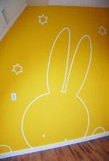 Nijntje muurschildering miffy nijntje pinterest - Grijs muurschildering ...