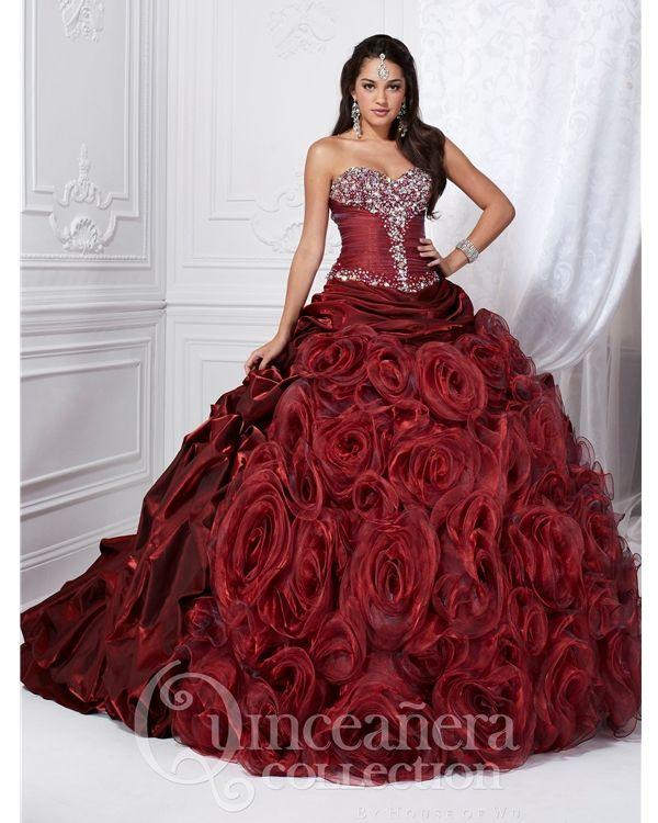 Maroon Dress | Quinceñera Dresses | Cotillion dresses ...