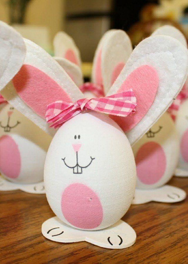 oeufs-Pâques-décoratifs-lapins-oeufs œufs de Pâques