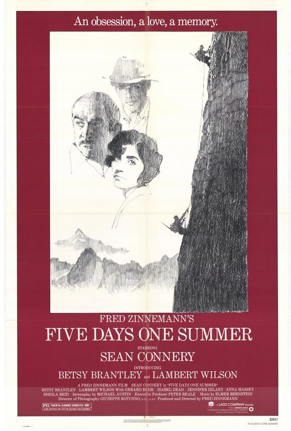 Five Days One Summer , starring Sean Connery, Betsy Brantley, Lambert Wilson, Jennifer Hilary. Sean Connery stars in Fred Zinnemann's haunting tale of incestuous love set against a magnificent background of the Swiss Alps. #Drama