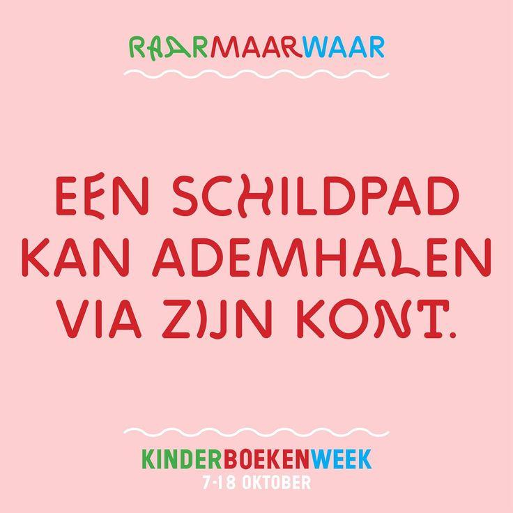 Kinderboekenweek 2015 'Raar maar waar': Een schildpad kan ademhalen via zijn kont.