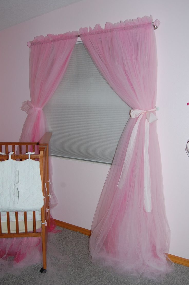 Image detail for -Pink tulle princess curtain panels by elisabethdunn on Etsy