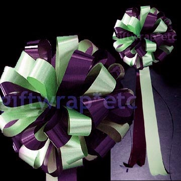 purple mint green wedding | TWO + COLOR BOWS - Pull/twist/pull one loop in each color to a single ...