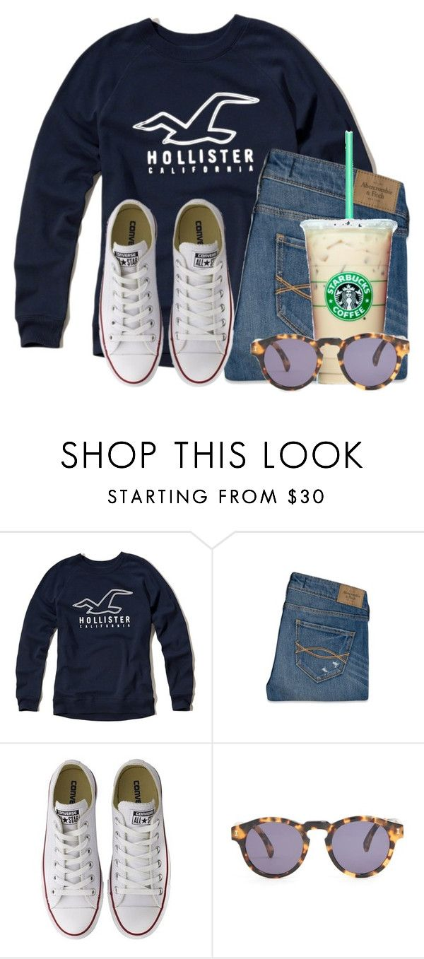 """Orlando bound"" by flroasburn on Polyvore featuring Hollister Co., Abercrombie & Fitch, Converse and Illesteva"