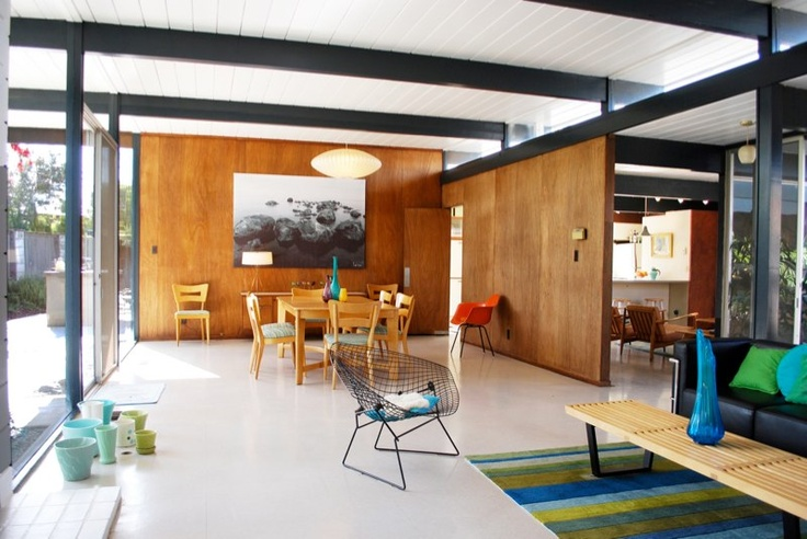 Sofa by the glass modern architecture eichler remodels for Joseph eichler houses