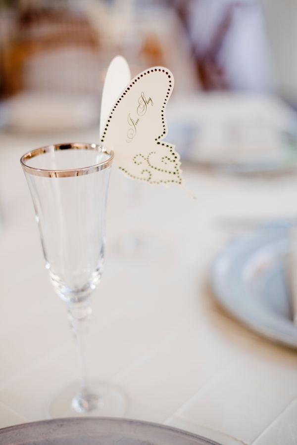 Décoration de verre papillon / #decoration #mariage  #papillon