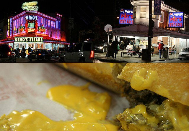 Geno's Philly Cheesesteak | ... two leading cheesesteak rivals –– Pat's and Geno's –– is best