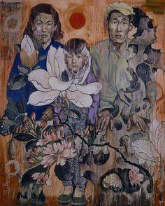 PEOPLE OF THE REVOLUTION, Hung Liu (b1948, Changchun, China; based in California since 1984)