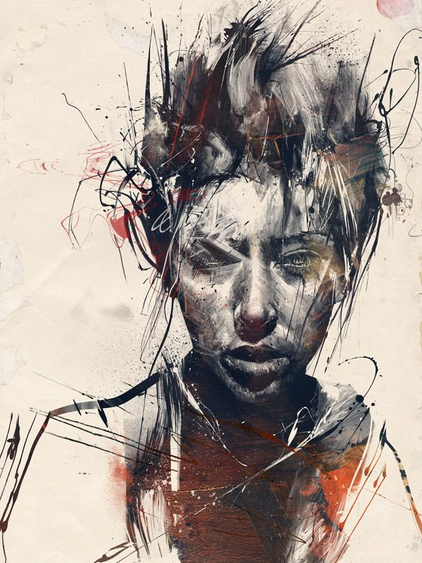 Summer Salts #1 by Russ Mills, via BehanceRusse Mills, The Artists, Portraits Painting, The Face, Digital Media, Digital Painting, Hands Drawn, Retrato-Port Digital, Art Illustration