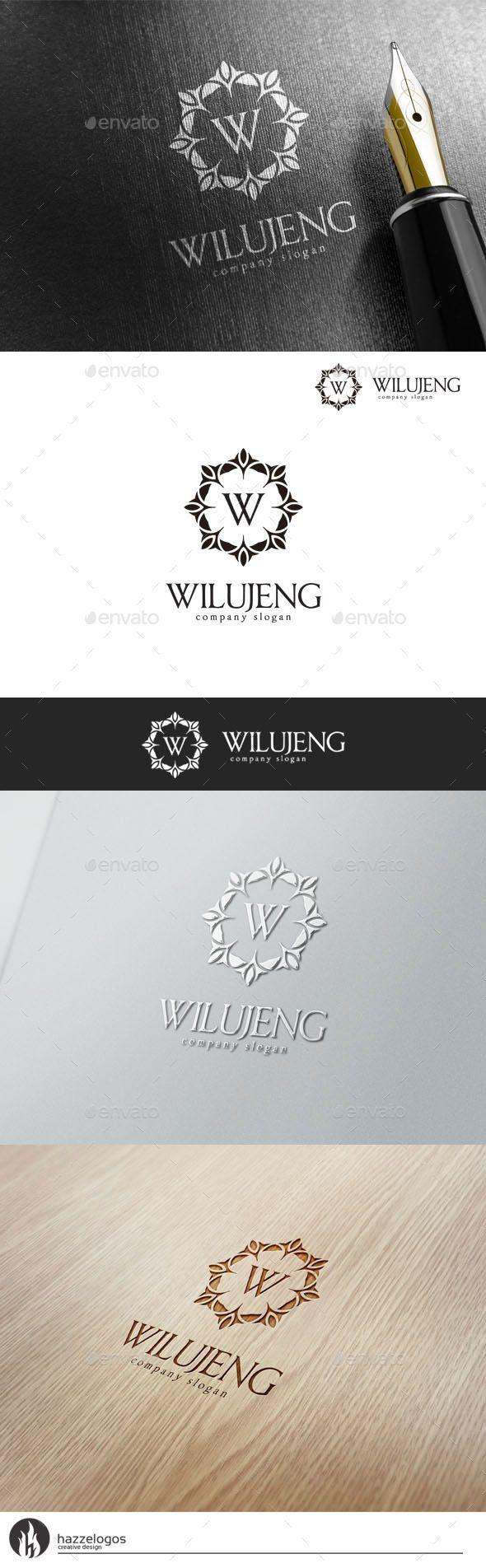 Wilujeng Logo (AI Illustrator, Resizable, CS, apparel, boutique, brand, branding, business, classic, classy, company, corporation, crest, crown, decorative, elegant, emblem, fashion, furniture, hotel, imperium, jewelry, luxurious, luxury, ornament, real estate, resort, restaurant, royal, vector, victorian, vintage, winery)