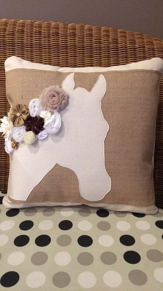 Kentucky Derby Horse Pillow by KentuckyKraft on Etsy