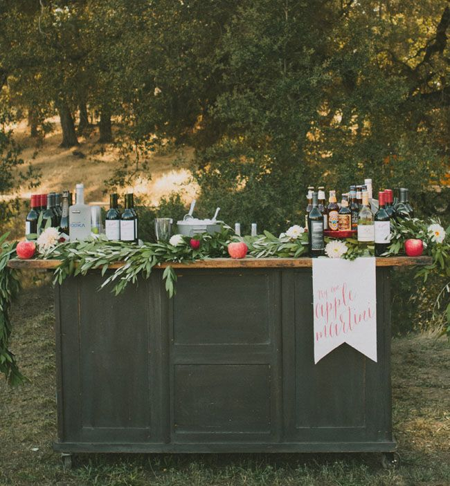 vintage bar: Bold and Colorful Fall Wedding in Amber,cardinal,pumpkin and rust