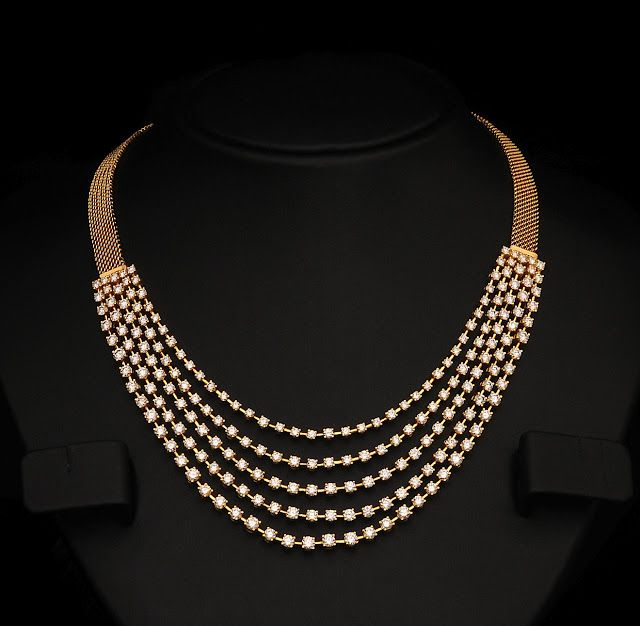 Indian Diamond Bridal Necklace Sets from vummidi