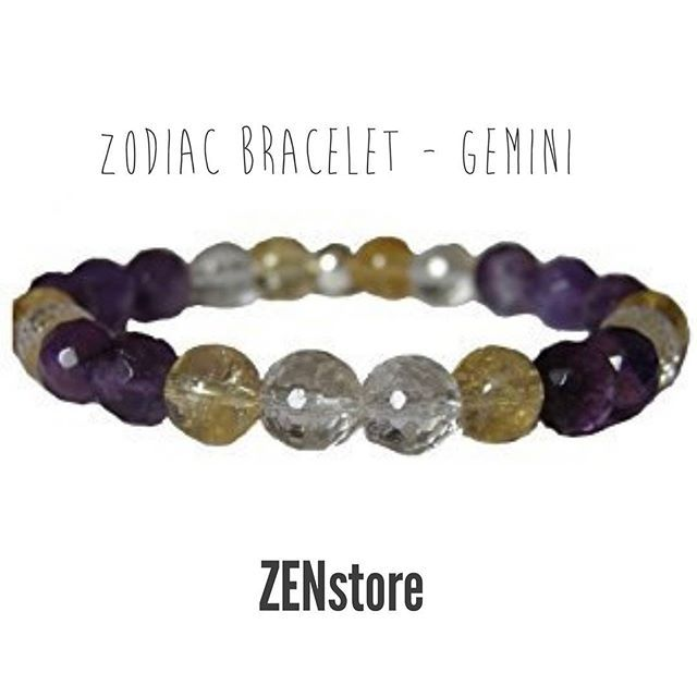 Zodiac Bracelet GeminiHelps to overcome worries and to calm high emotions. It also gives confidence and vitality & cures ambivalent thoughts. #ZENstore #gemini #zodiac #zodiacsigns #zodiacbracelet #feminine #beautiful #yoga #chakra #sun #vitality #confidence #gemstonesjewelry #accessories