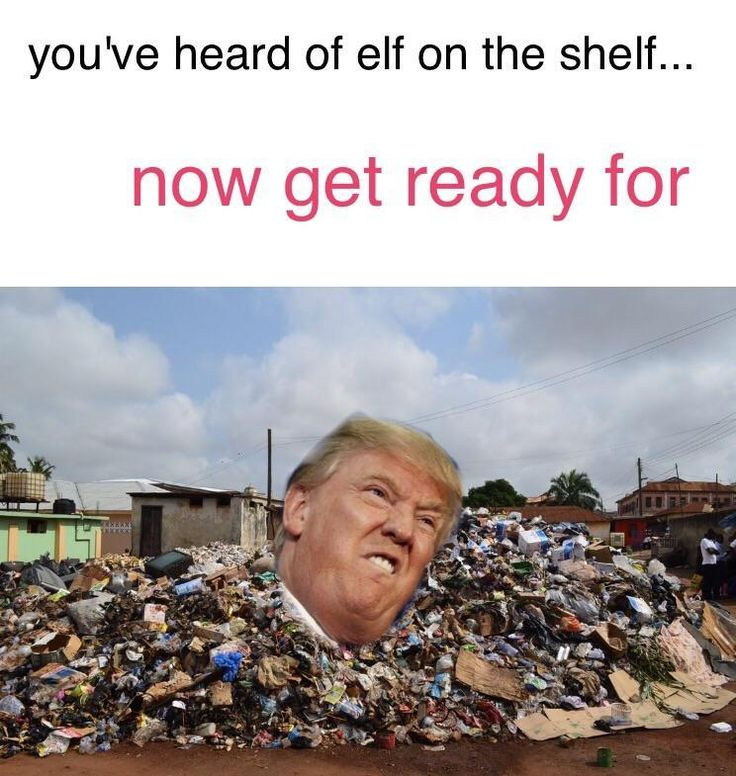 Donald Trump in the dump | You've Heard of the Elf on the Shelf... | Know Your Meme