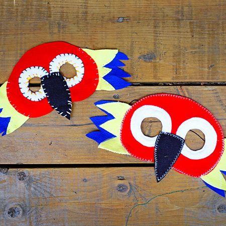 Parrot mask / Masque de perroquet | DeSerres