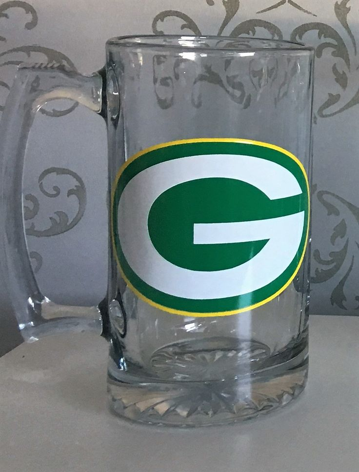 Greenbay Packers, Green bay packers gift for him, gifts for anniversary, NFL beer mugs, NFL team gifts for men, wedding gifts, fathers day by FirstClassVinyl on Etsy