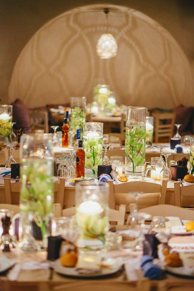 Wedding table decorations by Mykonos Exclusive. Mykonos exclusive weddings