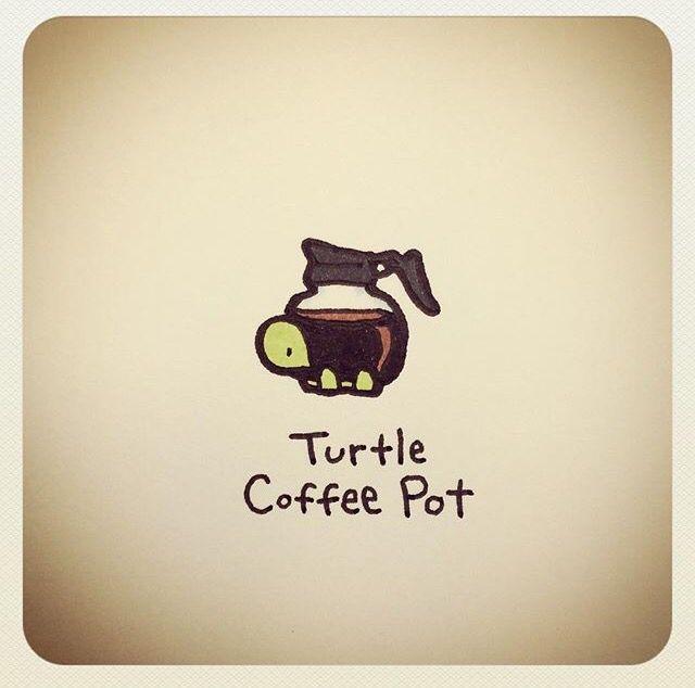 Turtle coffee pot