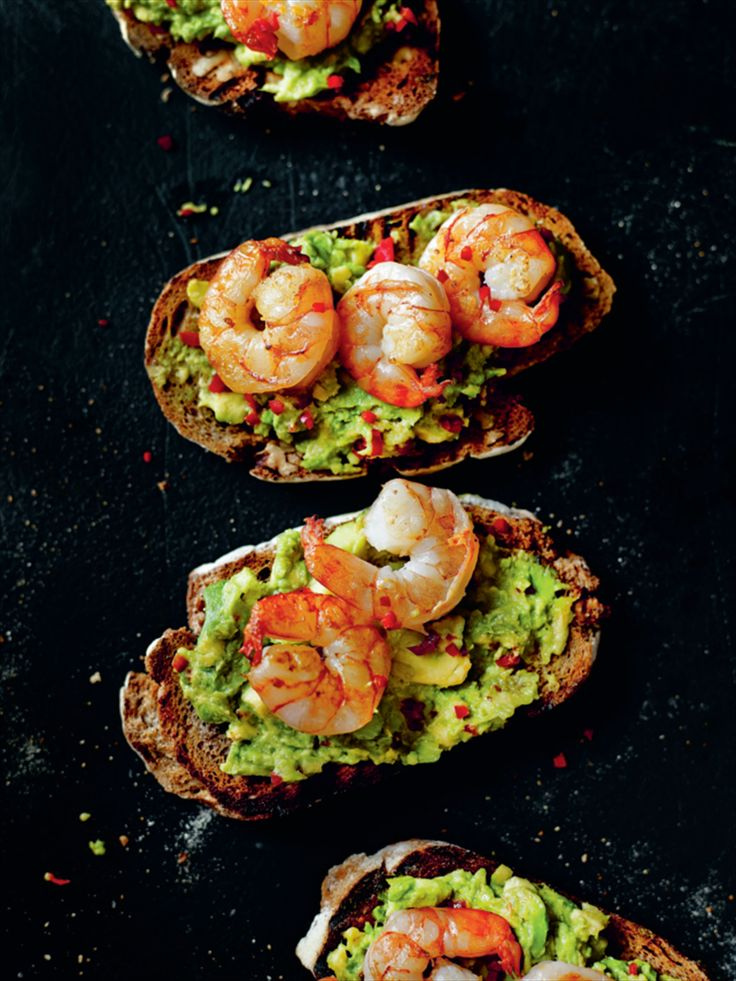 King prawn and guacamole open sandwich recipe from Anxiety & Depression by Dale Pinnock | Cooked