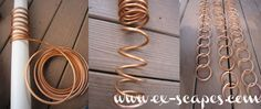 Basic metal craft tutorial, no welding or soldering required (though you could if you know how): DIY Copper Rain Chain, by K of ex-scapes.com, 17 Nov. 2013. Rain water, downspout replacement, garden art
