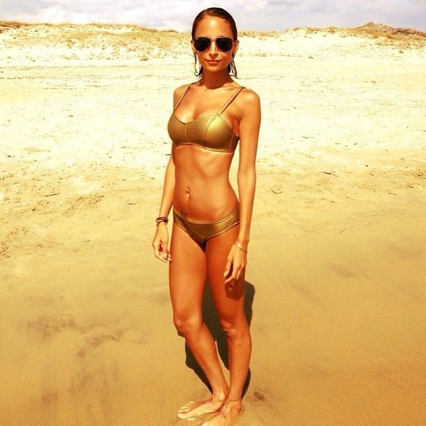 Nicole Richie looks like a Greek Goddess in her LMF bikini in Corsica. #lisamariefernandez