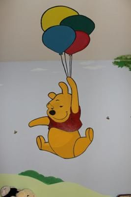 104 best images about murals for kids rooms on pinterest for Baby pooh and friends wall mural