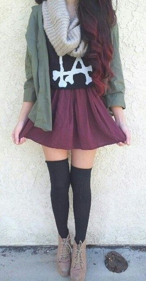 Tumblr Fashion - Love the hair and the outfit