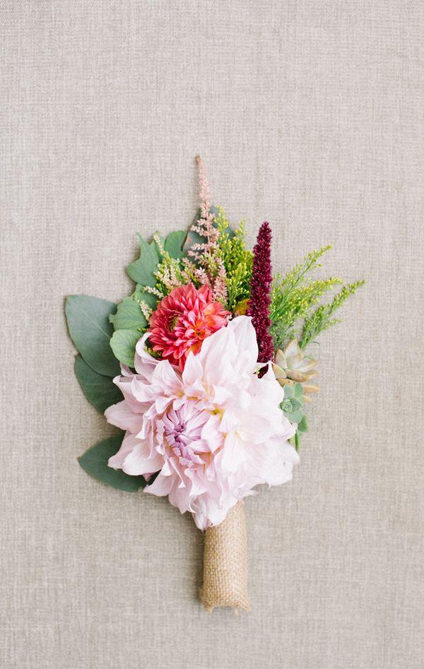 lush boutonniere, photo by Beaux Arts Photographie http://ruffledblog.com/rancho-palos-verdes-wedding #groom #flowers